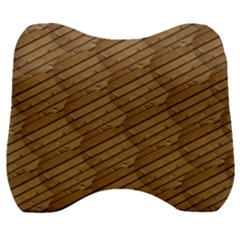 Wood Texture Wooden Velour Head Support Cushion