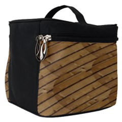 Wood Texture Wooden Make Up Travel Bag (small)