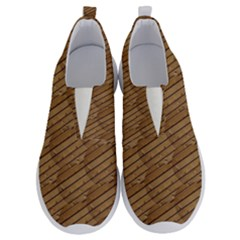 Wood Texture Wooden No Lace Lightweight Shoes