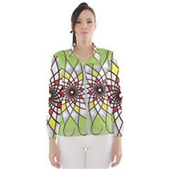 Mandala Model Figure Graphics Women s Windbreaker