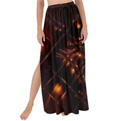 Fire Glass Fractal Maxi Chiffon Tie Up Sarong