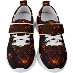 Fire Glass Fractal Kids  Velcro Strap Shoes