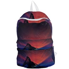 Matterhorn Switzerland Fantasy Aurora Foldable Lightweight Backpack