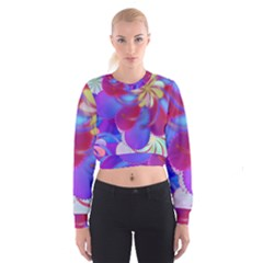 Colorful Abstract Design Pattern Cropped Sweatshirt