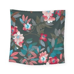 Floral Pattern Background Art Square Tapestry (small) by Pakrebo