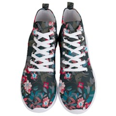 Floral Pattern Background Art Men s Lightweight High Top Sneakers