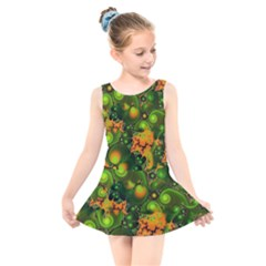 Fractal Design Creative Fantasy Kids  Skater Dress Swimsuit by Pakrebo