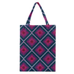 Purple Textile And Fabric Pattern Classic Tote Bag