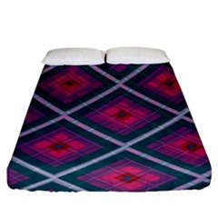 Purple Textile And Fabric Pattern Fitted Sheet (king Size)