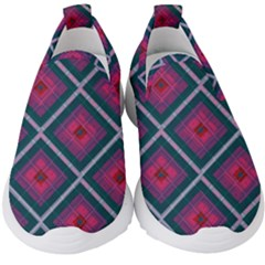 Purple Textile And Fabric Pattern Kids  Slip On Sneakers by Pakrebo