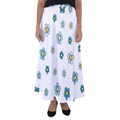 Floral Pattern Seamless Endless Flared Maxi Skirt