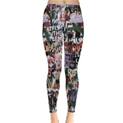 Graffiti Wall Background Inside Out Leggings