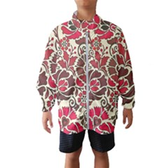 Floral Ethnic Pattern Kids  Windbreaker