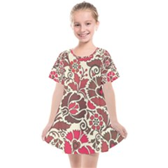 Floral Ethnic Pattern Kids  Smock Dress by Pakrebo