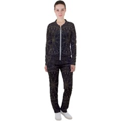 Floral Flowers Flourish Decorative Casual Jacket And Pants Set by Pakrebo
