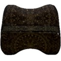 Floral Flowers Flourish Decorative Velour Head Support Cushion View2
