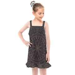 Floral Flowers Flourish Decorative Kids  Overall Dress by Pakrebo