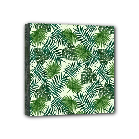Leaves Tropical Wallpaper Foliage Mini Canvas 4  x 4  (Stretched)