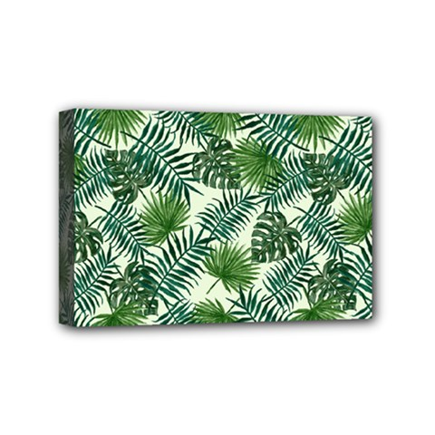 Leaves Tropical Wallpaper Foliage Mini Canvas 6  x 4  (Stretched)