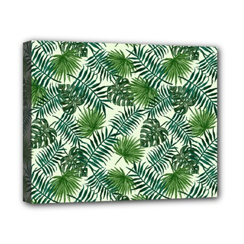Leaves Tropical Wallpaper Foliage Canvas 10  x 8  (Stretched)
