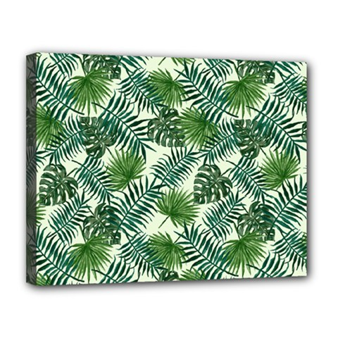 Leaves Tropical Wallpaper Foliage Canvas 14  x 11  (Stretched)