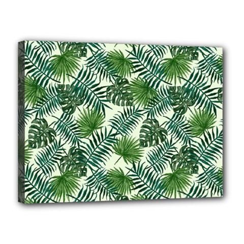 Leaves Tropical Wallpaper Foliage Canvas 16  x 12  (Stretched)