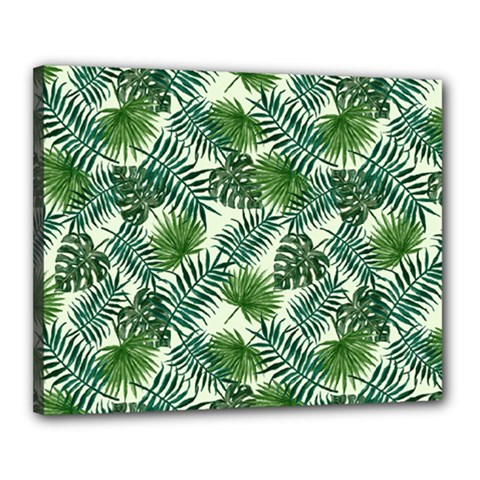 Leaves Tropical Wallpaper Foliage Canvas 20  x 16  (Stretched)