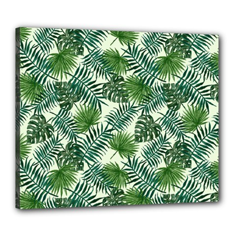 Leaves Tropical Wallpaper Foliage Canvas 24  x 20  (Stretched)