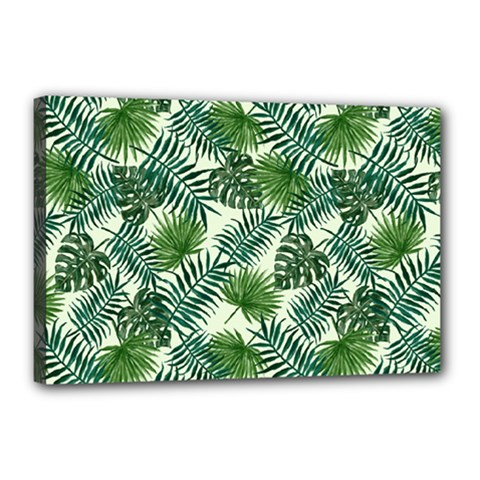Leaves Tropical Wallpaper Foliage Canvas 18  x 12  (Stretched)