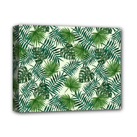 Leaves Tropical Wallpaper Foliage Deluxe Canvas 14  X 11  (stretched) by Pakrebo