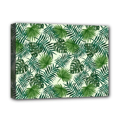 Leaves Tropical Wallpaper Foliage Deluxe Canvas 16  x 12  (Stretched)