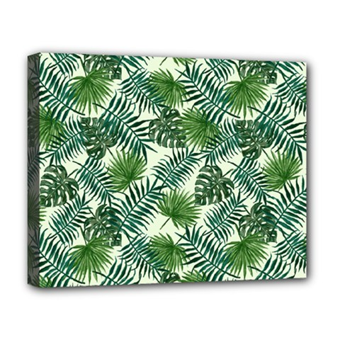 Leaves Tropical Wallpaper Foliage Deluxe Canvas 20  x 16  (Stretched)