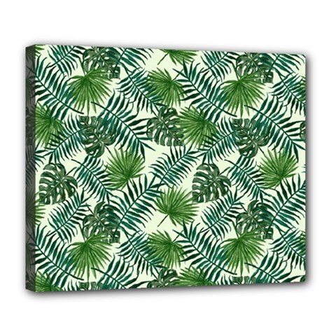 Leaves Tropical Wallpaper Foliage Deluxe Canvas 24  x 20  (Stretched)