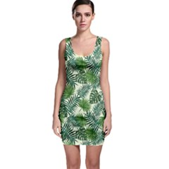 Leaves Tropical Wallpaper Foliage Bodycon Dress