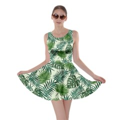 Leaves Tropical Wallpaper Foliage Skater Dress