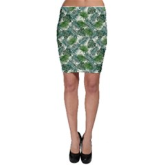 Leaves Tropical Wallpaper Foliage Bodycon Skirt