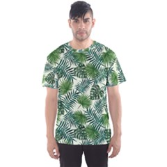 Leaves Tropical Wallpaper Foliage Men s Sports Mesh Tee