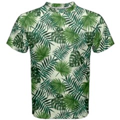 Leaves Tropical Wallpaper Foliage Men s Cotton Tee