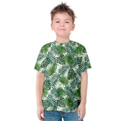 Leaves Tropical Wallpaper Foliage Kids  Cotton Tee