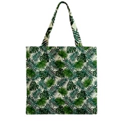 Leaves Tropical Wallpaper Foliage Grocery Tote Bag