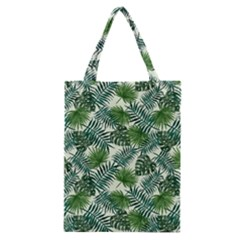 Leaves Tropical Wallpaper Foliage Classic Tote Bag