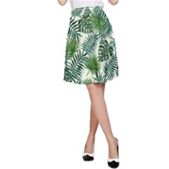 Leaves Tropical Wallpaper Foliage A-Line Skirt