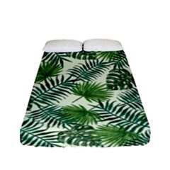 Leaves Tropical Wallpaper Foliage Fitted Sheet (Full/ Double Size)