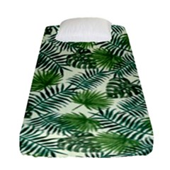 Leaves Tropical Wallpaper Foliage Fitted Sheet (Single Size)