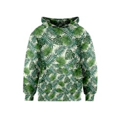 Leaves Tropical Wallpaper Foliage Kids  Pullover Hoodie