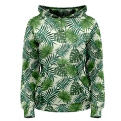 Leaves Tropical Wallpaper Foliage Women s Pullover Hoodie