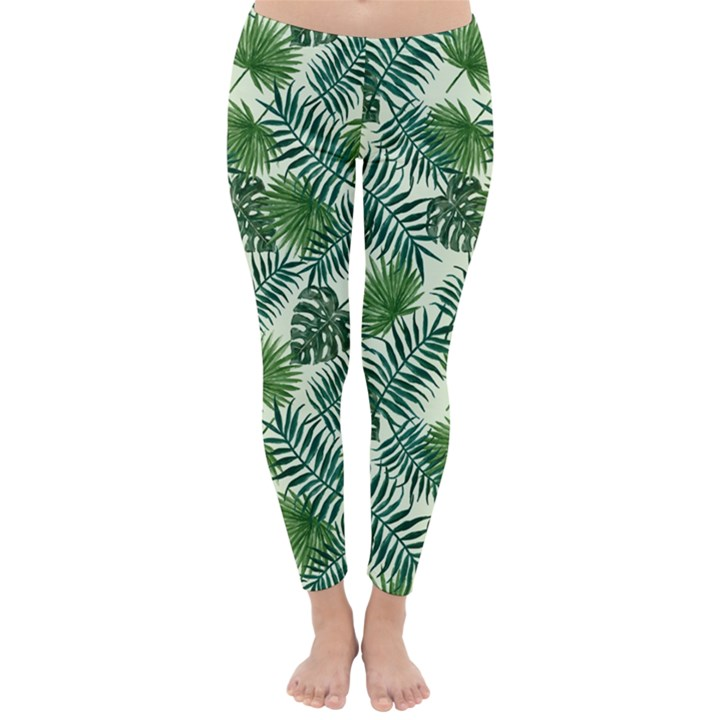 Leaves Tropical Wallpaper Foliage Classic Winter Leggings