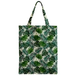 Leaves Tropical Wallpaper Foliage Zipper Classic Tote Bag