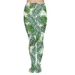 Leaves Tropical Wallpaper Foliage Tights