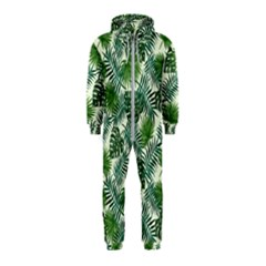 Leaves Tropical Wallpaper Foliage Hooded Jumpsuit (Kids)